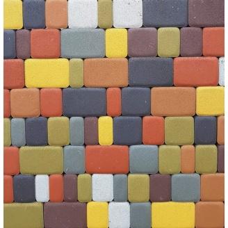 Тротуарная плитка Старый Город 40 мм цветная