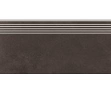 Керамогранітна щабель Cersanit City Squares Anthracite Steptread 298х598 мм