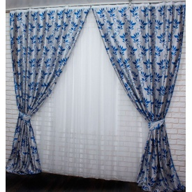 Шторы блекаут двухсторонние VR-Textil 2 шт. 1,5 × 2,8 м серый (2106)