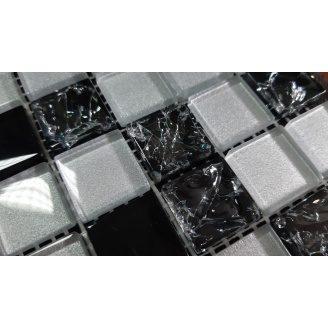 Скляна мозаїка Керамік Полісся Gretta Black Silver Mix 300х300х6 мм