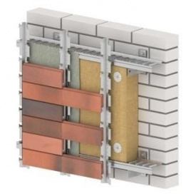 Вентильована фасадна система HostRock Klinker