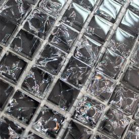 Стеклянная мозаика Керамик Полесье Gretta Black колотое стекло 300х300 мм