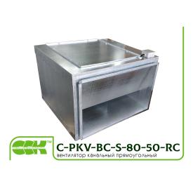 Вентилятор C-PKV-BC-S-80-50-4-380-RC в шумоизолированном корпусе канальный