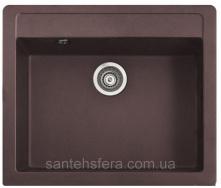 Мийка гранітна з переливом ADAMANT PRIZMA 590x500x200 мм коричнева