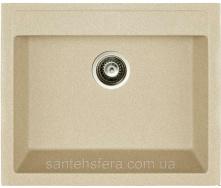 Мийка гранітна з переливом ADAMANT PRIZMA 590x500x200 мм Терра