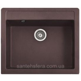 Мойка гранитная с переливом ADAMANT PRIZMA 590x500x200 мм коричневая