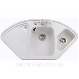 Гранитная кухонная мойка ADAMANT CONSENSUS 1060x575x190 мм белая