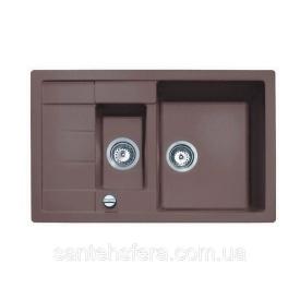 Гранитная кухонная мойка ADAMANT ANILA PLUS 780x500x200 мм коричневая