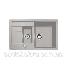 Гранитная кухонная мойка ADAMANT ANILA PLUS 780x500x200 мм серая