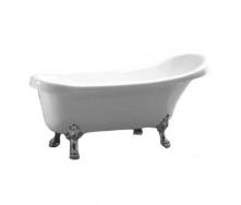 Акриловая отдельностоящая ванна Atlantis C-3014 белая ноги серебро