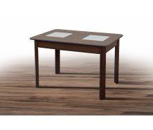 Обідній стіл Бостон 1150-1540х740х750 мм дерев`яний горіх темний