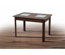 Обеденный стол Бостон 1150-1540х740х750 мм деревянный орех темный
