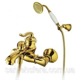 Смеситель для ванны и душа Welle Vanessa золото