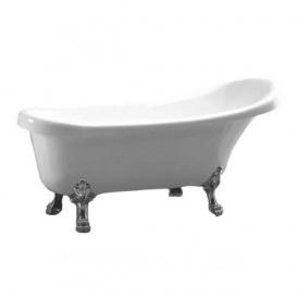 Отдельностоящая ванна акрилова Atlantis C-3014 біла ноги срібло