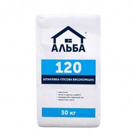 Шпатлевка гипсовая универсальная Альба 120 15 кг