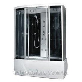 Гідробокс Miracle F 77-3 W з електронікою 150х85 см профіль сатин скло сіре