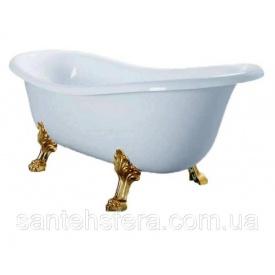 Окремостояча ванна акрилова Atlantis З-3015 біла ніжки золото