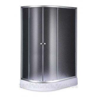 Душовий куток Sansa S120-80/15R 120х80х197 см асиметрія профіль сатин скло фабрик