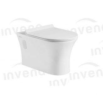 Підвісний унітаз Invena DOKOS direct flush з сидінням для унітазу soft close