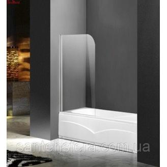 Штора для ванны Atlantis PF-74 прозрачное стекло 85х140 см