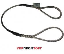Строп канатний-сталевий СКП 2,0 тонни 1 метр(чалка канатна)