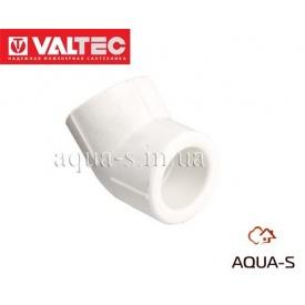 Уголок DN 25x45° VALTEC белый (VTp.759.0)