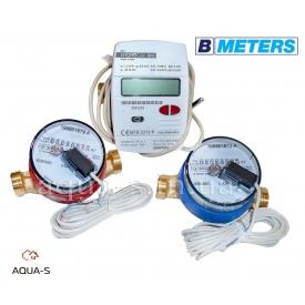 """Комплект квартирних лічильників BMeters SMART Тепло+ХВ+ГВ DN 15 G3/4"""" база 110 мм"""