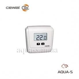 Термостат комнатный цифровой Cewal ET 05 на батарейках настенный