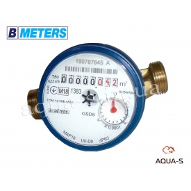 """Счетчик воды одноструйный BMeters GSD8 DN 1/2"""" 2,5 м3/ч до 30°С база 80 мм"""