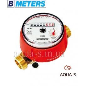 """Счетчик воды одноструйный BMeters GSD8 DN 1/2"""" 2,5 м3/ч до 90°С база 80 мм"""