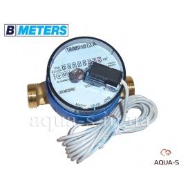 """Счетчик воды импульсный BMeters GSD8-R сухой ход DN 15 G 3/4"""" база 110 мм ХВ"""