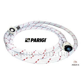 """Шланг в нейлоновой оплетке для стиральной машины 3/4""""x3/4"""" 3000 мм Parigi Nylonflex"""