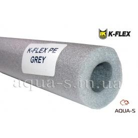 Теплоизоляция для трубопровода из вспененного полиэтилена K-FLEX PE 22x6 мм серая