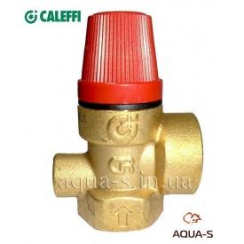 """Предохранительный клапан для отопления 6 бар 3/4"""" Caleffi"""