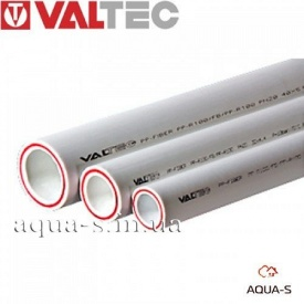 Труба зі скловолокном для опалення біла Valtec PP-FIBER PN 20 DN 50