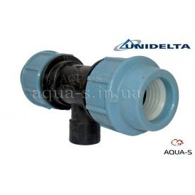"""Трійник перехідний DN 32x3/4"""" внутрішня різьба Unidelta для поліетиленового трубопроводу"""