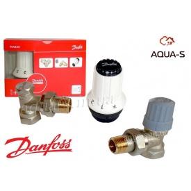 Комплект терморегулирующего оборудования для радиатора угловой Danfoss O13G5253