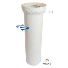 Патрубок для підключення унітазу до каналізації 110х400 мм SANIT