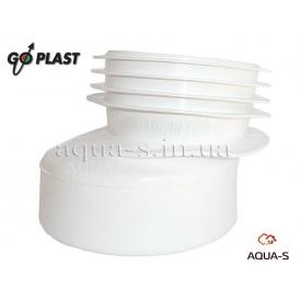 Ексцентрик з манжетом для унітазу гумовий 110 Go-Plast