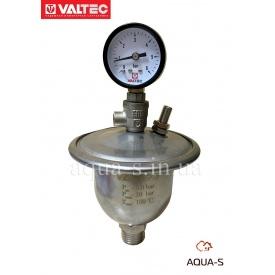 Гаситель гидроударов мембранный с манометром 0,155 л VALTEC VT.CAR20