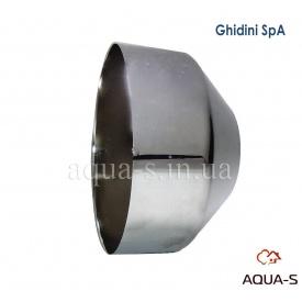 Чашка декоративна глибока Ghidini сантехнічна метал хром 30х100х60 мм