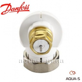 Кутовий адаптер Danfoss для термостатичних елементів підключається до клапана різьбленням М30х1,5