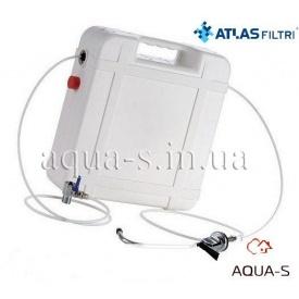 """Комплект фильтров портативных Atlas Filtri BRAVO DP TRIO CASE 10"""" кран на мойку+кран подключения"""