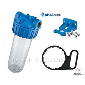 "Фильтр-колба для холодной воды Atlas Filtri PLUS 3P Dn 1"" 45° 10"" для картриджей SX ZA121T640"