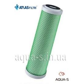 """Картридж для води Atlas Filtri CB-EC CTO 10"""" SX 10 mcr з спеченої вугільної пудри проти запахів RE5395109"""