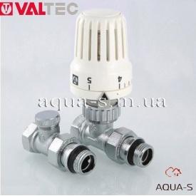 """Терморегулюючий комплект для підключення радіаторів прямий 1/2"""" Valtec VT.046"""