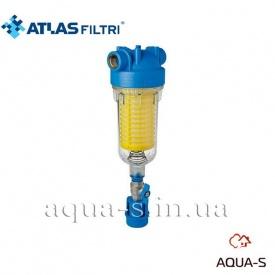 """Фільтр самопромивний Atlas Filtri Hydra з протитечією латунний Dn 1"""" картридж RLH 90 мкм"""