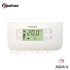 Електронний кімнатний термостат POLVAX з можливістю регулювання обертів вентилятора СН 130RR