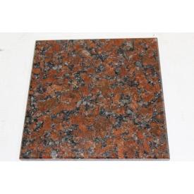 Гранитная плитка полированная Капустинского м-я Rosso Santiago 400Х400Х20 мм
