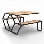 Садовий стіл в стилі LOFT (Garden Table-09)